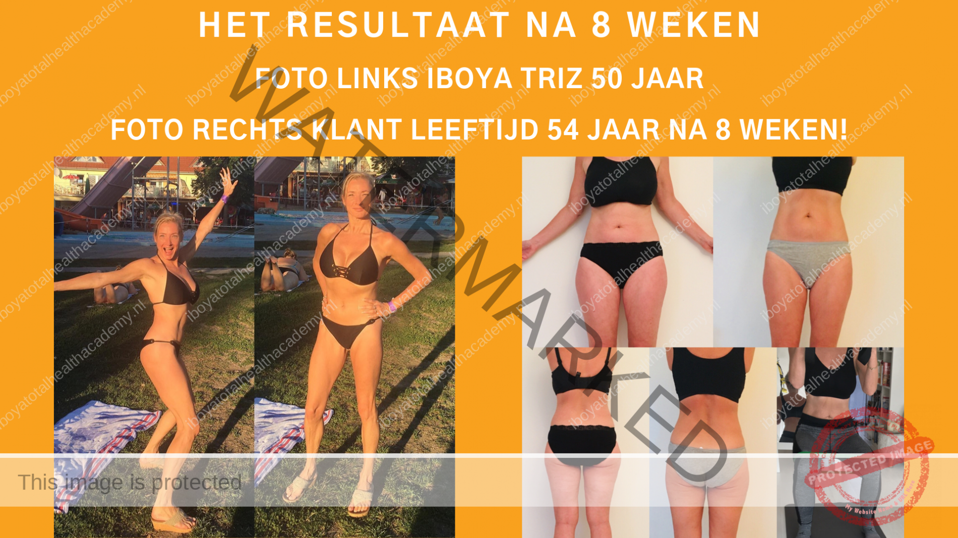 resultaat vrouwlijke personaltrainer Amsterdam Iboya